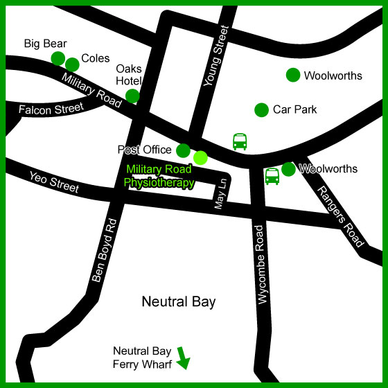 military road physiotherapy map neutral bay